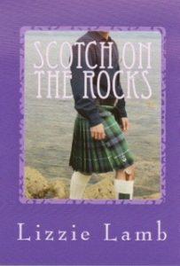 "The cover of Lizzie Lamb's novel ""Scotch on the Rocks"""