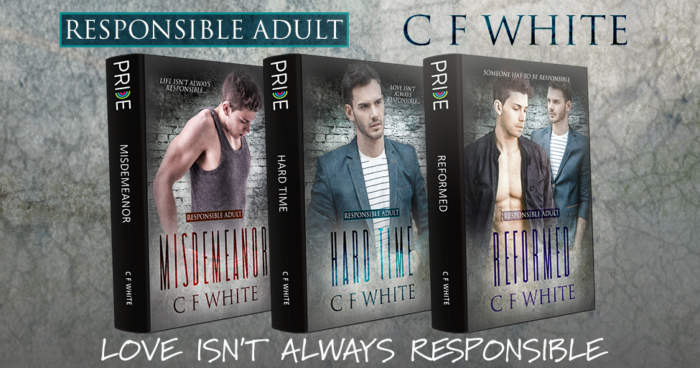The three novels of the Responsible Adult series..